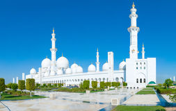 Sheikh Zayed Mosque Stockfotos