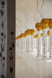 Sheikh Zayed Mosque. Inside the Sheikh Zayed Mosque Royalty Free Stock Photography