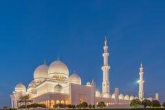 Sheikh Zayed Mosque in Abu Dabi Lizenzfreie Stockfotografie