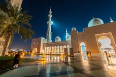 Sheikh Zayed Mosque in Abu Dabi Stock Images