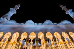 The sheikh zayed mosque in abu dabi Royalty Free Stock Image