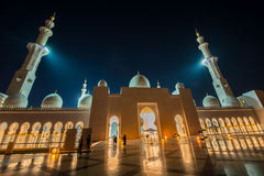 Sheikh Zayed Mosque in Abu Dabi Stock Photo