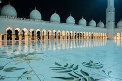 Sheikh Zayed Mosque in Abu Dabi Lizenzfreies Stockbild