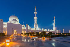 Sheikh Zayed Mosque in Abu Dabi Stockfoto