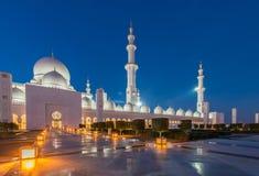 Sheikh Zayed Mosque in Abu Dabi Stock Photo
