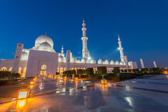 Sheikh Zayed Mosque in Abu Dabi Stockbilder