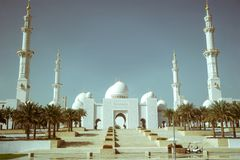 Sheikh Zayed Mosque in Abu Dhab Stock Photos