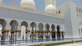 Sheikh Zayed Mosque-Abu Dhabi-Äußeres Lizenzfreie Stockfotografie