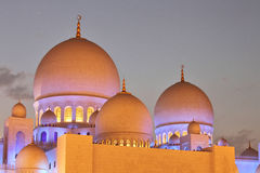 Sheikh Zayed Mosque in Abu Dhabi Stock Images