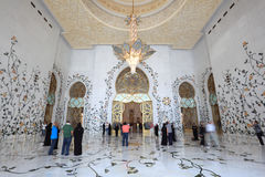 Sheikh Zayed Mosque, Abu Dhabi Stock Photo