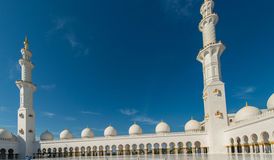 The sheikh zayed mosque in abu dhabi Stock Photography