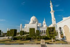 The sheikh zayed mosque in abu dhabi Royalty Free Stock Photos