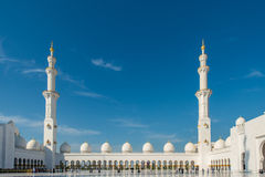 The sheikh zayed mosque in abu dhabi Royalty Free Stock Images