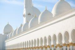Sheikh Zayed Mosque in Abu Dhabi, capitale degli Emirati Arabi Uniti fotografia stock libera da diritti