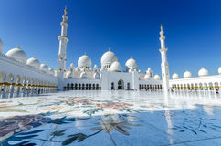 Sheikh Zayed Mosque in Abu Dhabi. Considered to be the key for worship in the United Arab Emirates Stock Photos