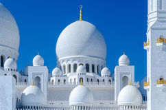Sheikh Zayed Mosque in Abu Dhabi. Considered to be the key for worship in the United Arab Emirates Stock Images