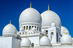 Sheikh Zayed Mosque in Abu Dhabi. Considered to be the key for worship in the United Arab Emirates Stock Image