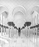 Sheikh Zayed Mosque Abu Dhabi, Förenade Arabemiraten arkivfoto
