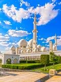 Sheikh Zayed Mosque Abu Dhabi, Förenade Arabemiraten arkivbild