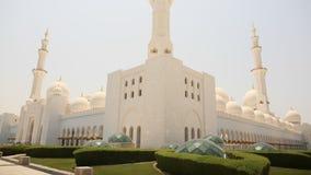 Sheikh Zayed Mosque Abu Dhabi, Förenade Arabemiraten Fotografering för Bildbyråer
