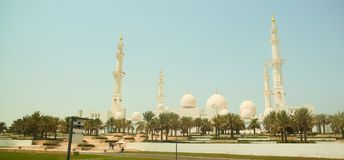Sheikh Zayed Mosque Abu Dhabi, Förenade Arabemiraten royaltyfri bild