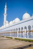 Sheikh Zayed Mosque - Abu Dhabi, Förenade Arabemiraten Arkivfoton