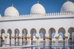 Sheikh Zayed Mosque - Abu Dhabi, Förenade Arabemiraten Royaltyfria Foton