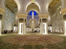 Sheikh Zayed mosque in Abu Dhabi inside Royalty Free Stock Images
