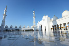 Sheikh Zayed Mosque, Abu Dhabi. Man and women look in the sky at Sheikh Zayed Mosque, Abu Dhabi Stock Images