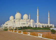 Sheikh Zayed Mosque in Abu Dhabi at sunset Stock Images