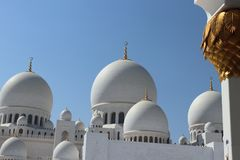 Sheikh Zayed mosque in Abu Dhabi. Stock Image