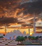 Sheikh Zayed Mosque in Abu Dhabi, UAE Stockbilder