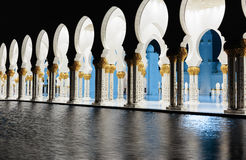 Sheikh Zayed Mosque, Abu Dhabi, UAE Stockbilder