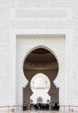 Sheikh Zayed Mosque, Abu Dhabi, UAE Stockfotos