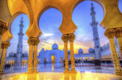 Sheikh zayed mosque, abu dhabi, uae, middle east Stock Image