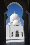 Sheikh zayed mosque, abu dhabi, uae, middle east. Main entrance to sheikh zayed mosque at abu dhabi, uae Royalty Free Stock Image