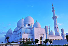 Sheikh zayed mosque, abu dhabi, uae, middle east stock image