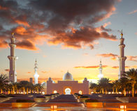 Sheikh Zayed mosque in Abu Dhabi, UAE Stock Photo