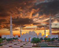Sheikh Zayed mosque in Abu Dhabi, UAE Royalty Free Stock Images