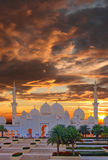 Sheikh Zayed mosque in Abu Dhabi, UAE Stock Photos