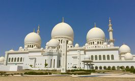 Sheikh Zayed Mosque in Abu Dhabi, United Arab Emirates Royalty Free Stock Images