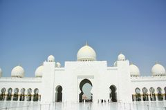 Sheikh Zayed Mosque in Abu Dhabi, United Arab Emirates. Sheikh Zayed Mosque in Abu Dhabi, the capital of the United Arab Emirates or UAE. Completed in 2007 is Royalty Free Stock Images