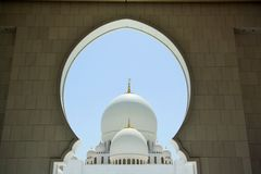 Sheikh Zayed Mosque in Abu Dhabi, United Arab Emirates Stock Photos