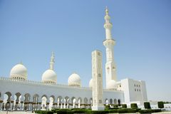 Sheikh Zayed Mosque in Abu Dhabi, United Arab Emirates Royalty Free Stock Images