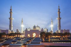 Sheikh Zayed mosque in Abu Dhabi, United Arab Emirates, Middle East Stock Photos