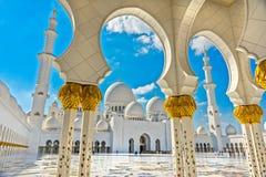 Sheikh Zayed Mosque, Abu Dhabi, Vereinigte Arabische Emirate Stockfotografie