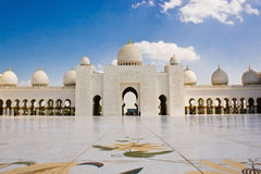 Sheikh Zayed Mosque, Abu Dhabi, Verenigde Arabische Emiraten Royalty-vrije Stock Foto