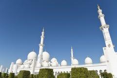 Sheikh Zayed Mosque in Abu Dhabi, Verenigde Arabische Emiraten i, de V.A.E stock afbeelding