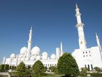 Sheikh Zayed Mosque in Abu Dhabi, Verenigde Arabische Emiraten i, de V.A.E stock fotografie
