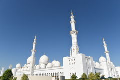 Sheikh Zayed Mosque in Abu Dhabi, Verenigde Arabische Emiraten i, de V.A.E stock foto